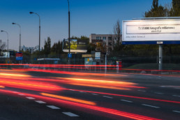 Billboard T3 studio reklamy - fotografia reklamowa w Warszawie, ul. Sobieskiego / Mangalia