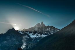 Wschód słońca w Chamonix, maj 2011