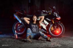 Portfolio - Fotografia Mody: Justyna i Kawasaki Ninja